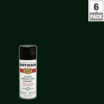 12 oz. Protective Enamel Gloss Charleston Green Spray Paint (6-Pack)