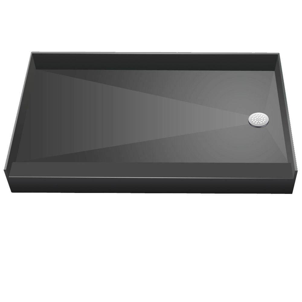 Beau Redi Base 30 In. X 48 In. Single Threshold Shower Base With Right Drain