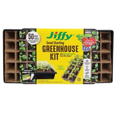 Peat Strips N' Greenhouse Tray with SUPERthrive and Labels