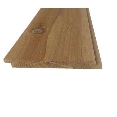 Pattern Stock 1 in. x 8 in. x 8 ft. Western Red Cedar STK Shiplap Siding (6-Pack)