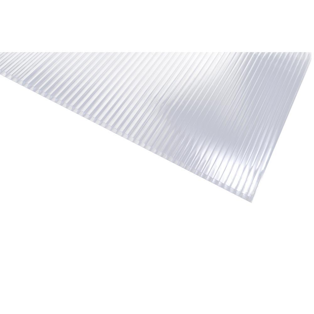 24 in. x 48 in. x 5/16 in. Polycarbonate Clear Twinwall Sheet