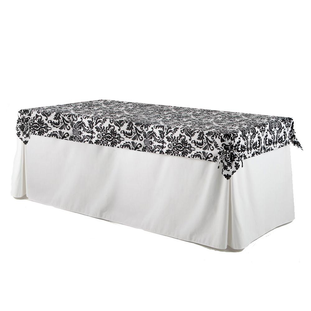 table rosette rectangular champagne tablecloth and cloths chiffon white tablecloths tule