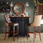 Home Decorators Collection Rebecca 31 in. Brown Cushioned Bar Stool in Antique Cherry with Back