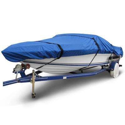 Ripstop 20 ft. to 22 ft. (Beam Width to 106 in.) Blue V-Hull Fishing Boat Cover Size BT-6