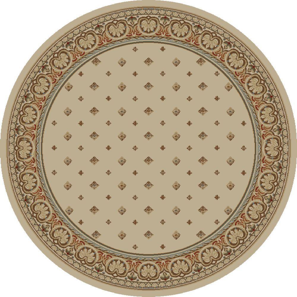 Ankara Pin Dot Ivory 7 ft. 10 in. Round Area Rug