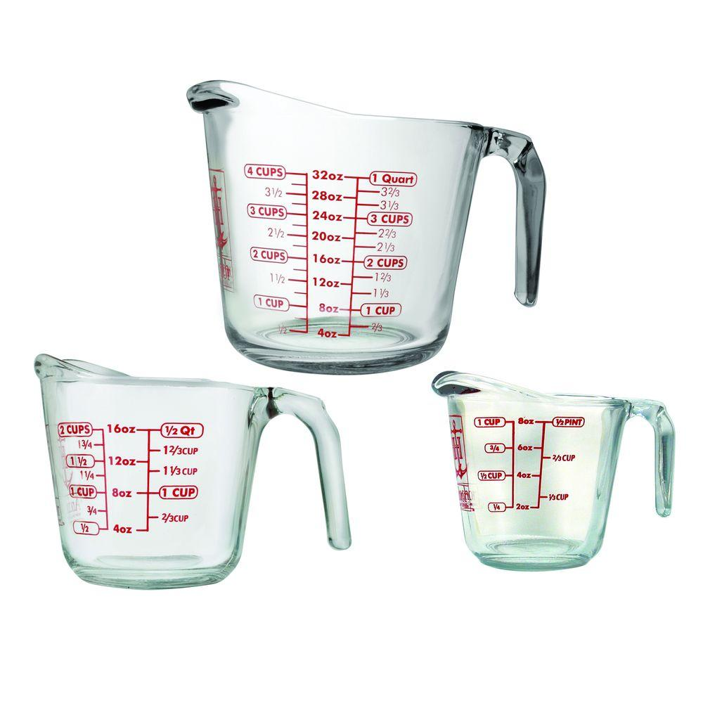 Anchor Hocking 3-Piece Open Handle Measuring Cup-92032L11