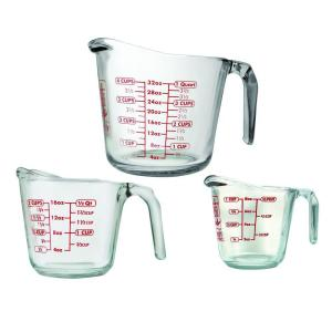 Anchor Hocking 3-Piece Open Handle Measuring Cup by Anchor Hocking