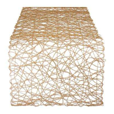 Taupe Metallic Woven Paper Table Runner