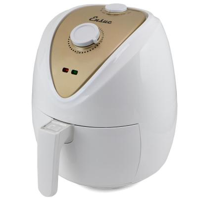 1300W Electric Air Fryer with Time & Temperature Control, White/Gold