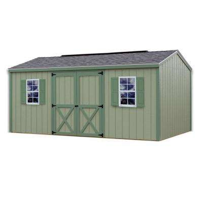 Cypress 16 ft. x 10 ft. Wood Storage Shed Kit