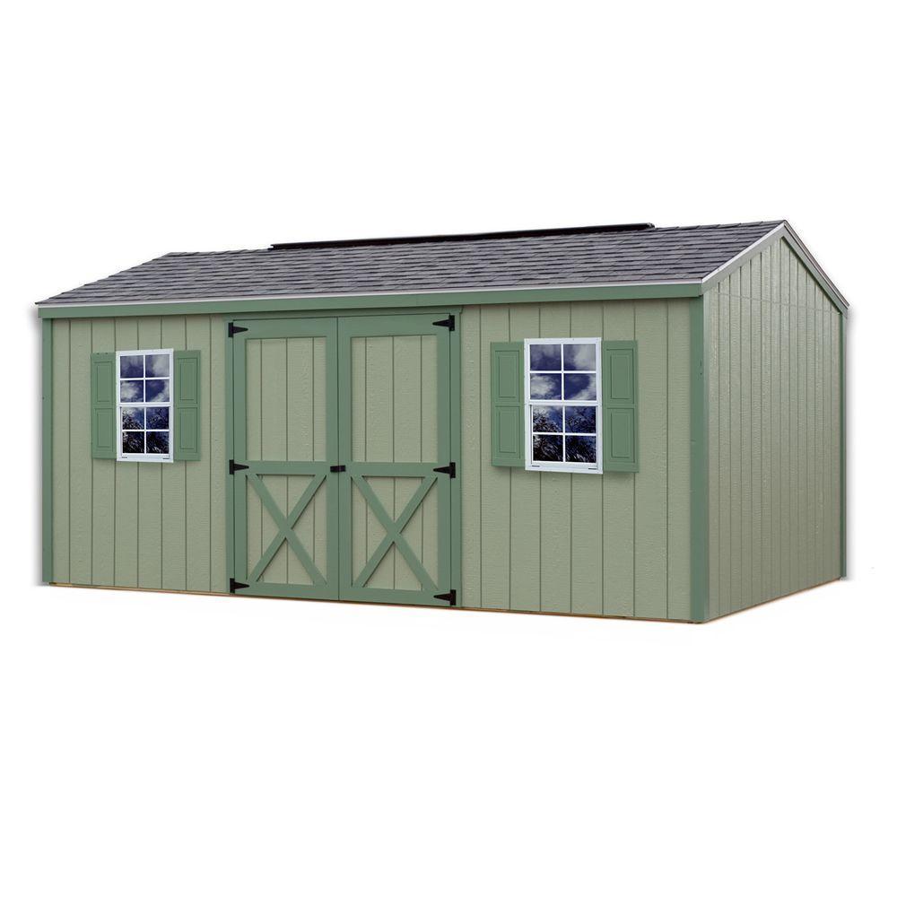 Cypress 16 ft. x 10 ft. Wood Storage Shed Kit