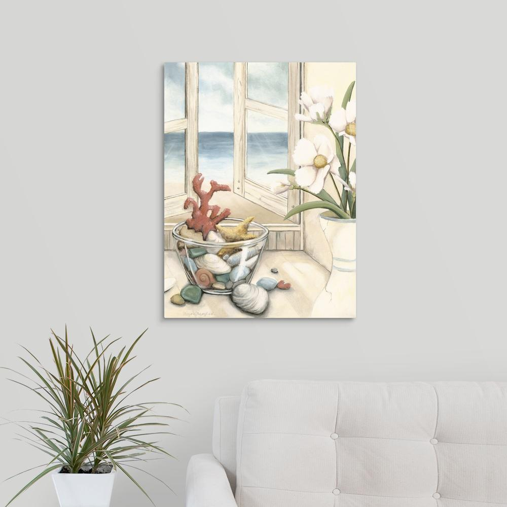 GreatBigCanvas Small Beach House View II By Megan Meagher Canvas Wall Art