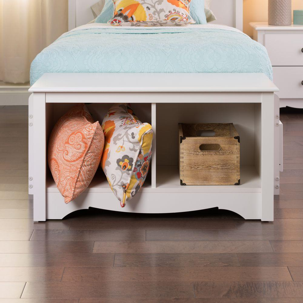 Stupendous Prepac Monterey White Storage Bench Wsc 3620 The Home Depot Ncnpc Chair Design For Home Ncnpcorg