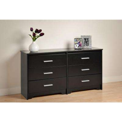 Coal Harbor 6-Drawer Black Dresser