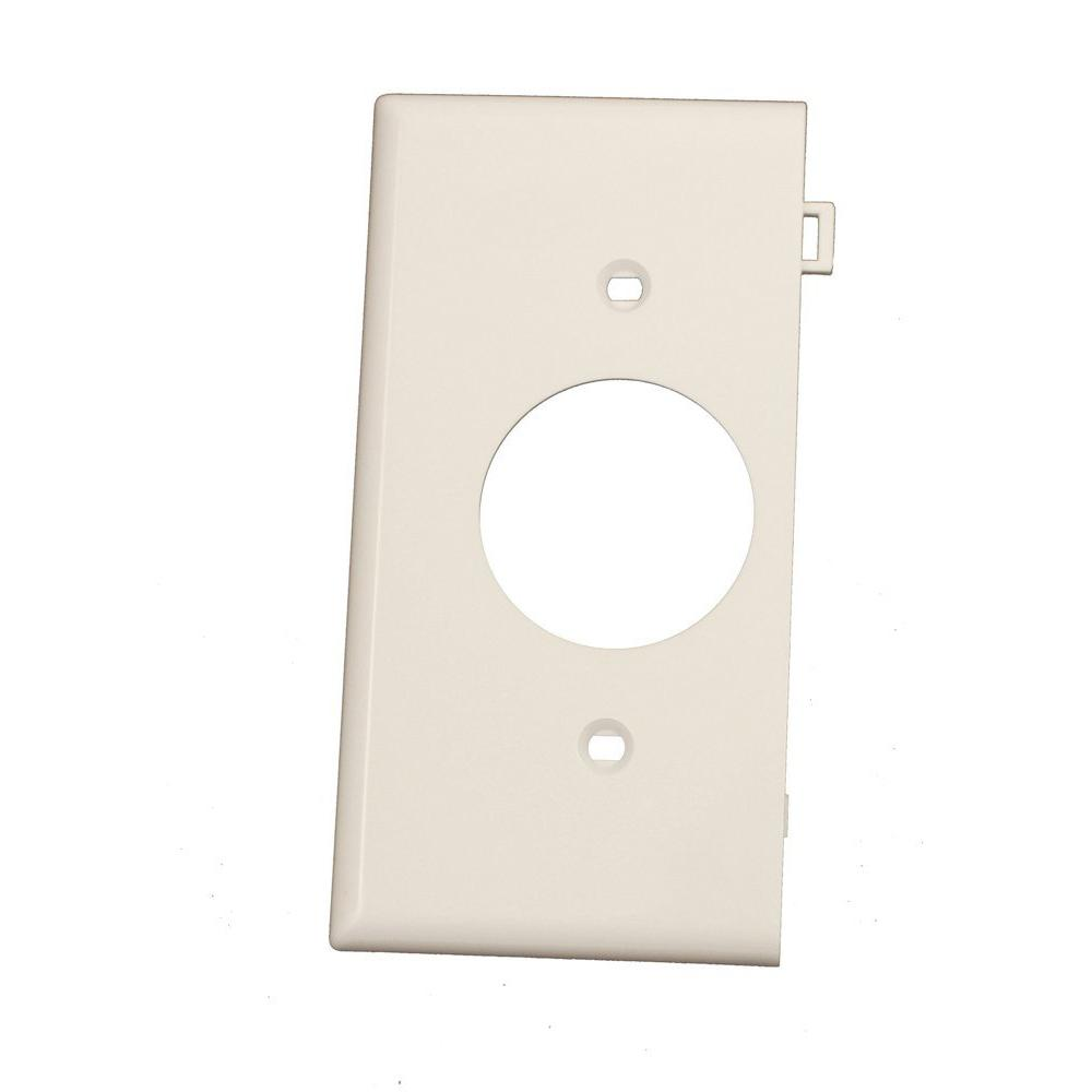 leviton 1gang end panel single receptacle sectional wall plate in white