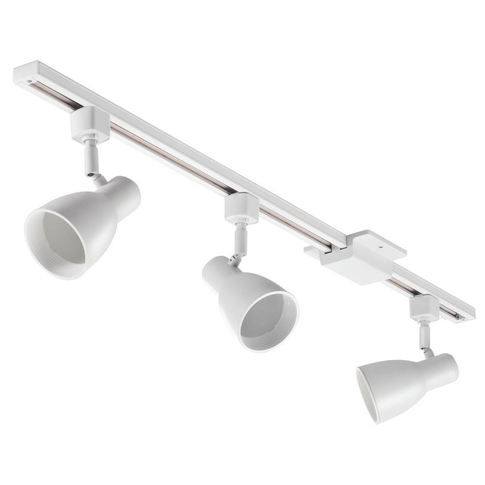 Lithonia Lighting 3 Ft 3 Light White Track Lighting Kit