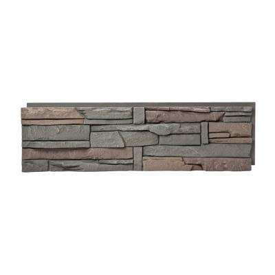Stacked Stone Keystone 12 in. x 42 in. Faux Stone Siding Panel