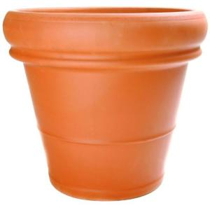 18-1/2 in. Terra Cotta Clay Heavy Rimmed Pot