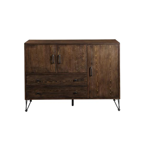 Acme Furniture Garron Walnut and Black Server