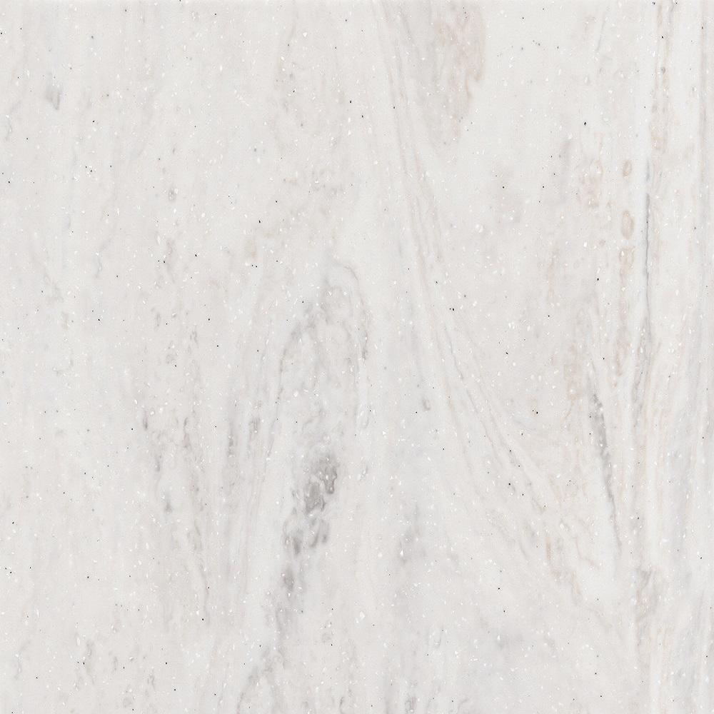2 in. x 2 in. Solid Surface Countertop Sample in Limestone