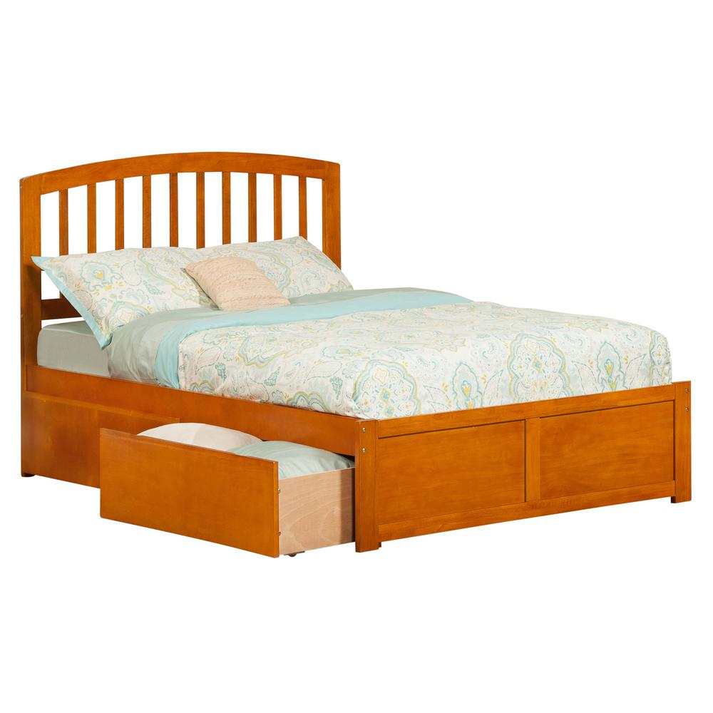 Atlantic Richmond Caramel Full Platform Bed with Flat Pan...