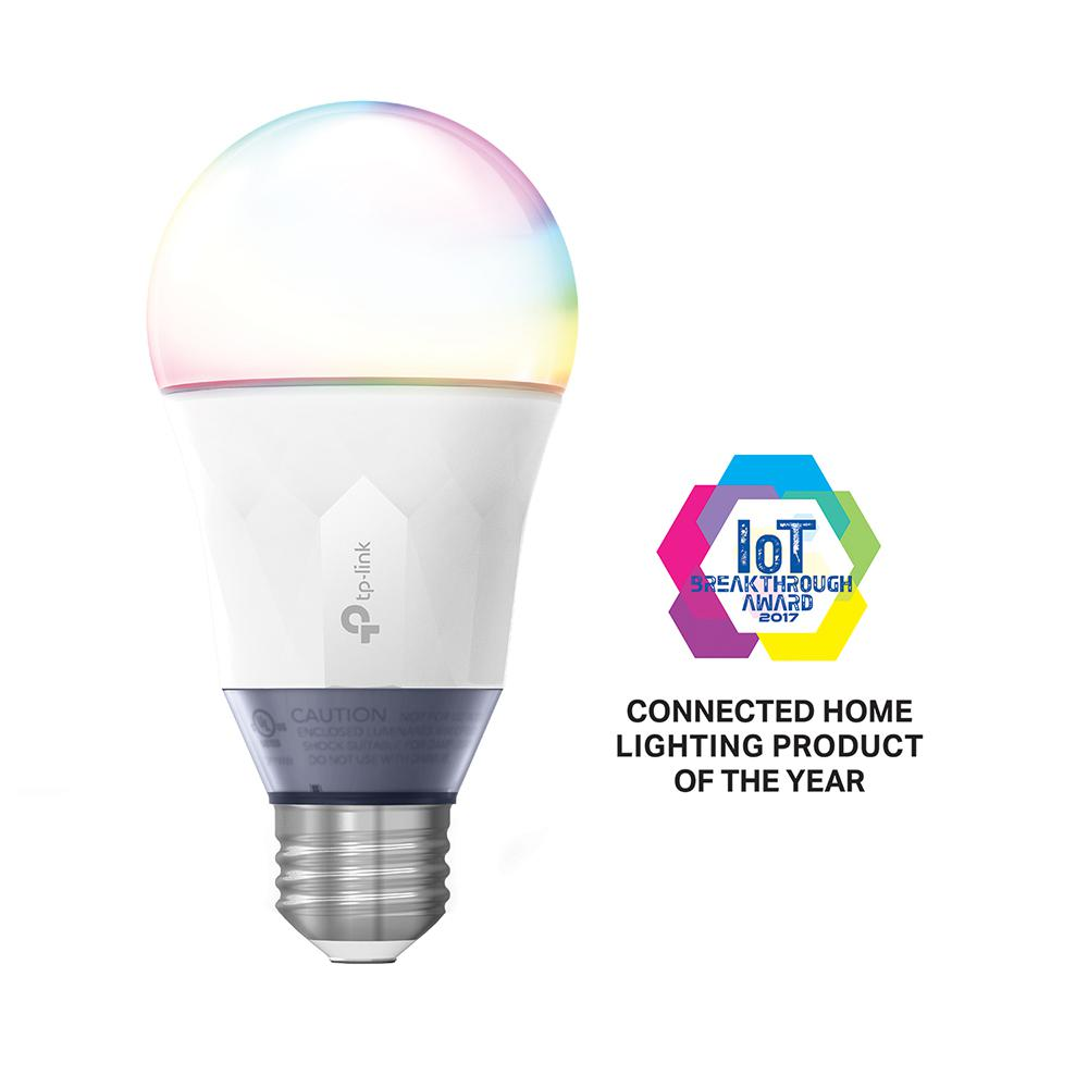 TP-LINK 60-Watt Smart Wi-Fi LED Bulb with Tunable White and Color with Energy Monitoring