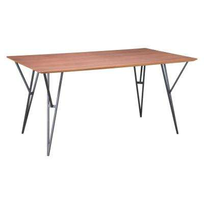 Audrey Walnut and Black Dining Table