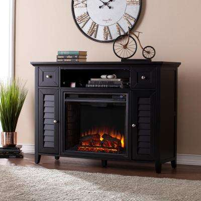 Kennison 48 in 3-in-1 Media Fireplace Console in Black