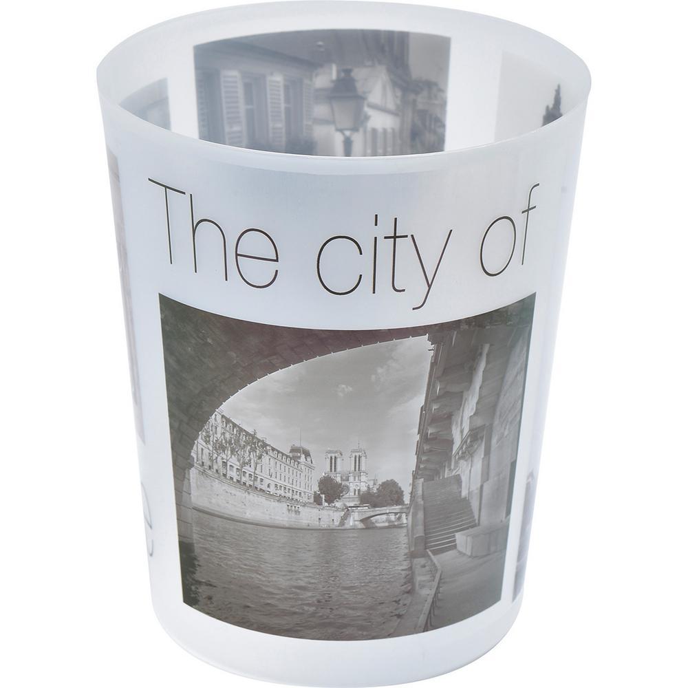 4.5 l/1.2 Gal. Printed Bath Trash Can Paris City Waste Bin