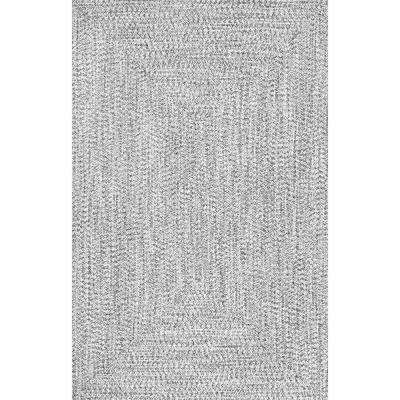 Braided Lefebvre Salt and Pepper Indoor/Outdoor 8 ft. 6 in. x 11 ft. 6 in. Area Rug