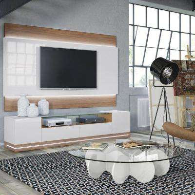 Vanderbilt Maple Cream and Off White Entertainment Center