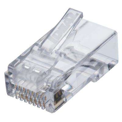 Cat6 Feed-Thru RJ45 Modular Plug (25-Pack)