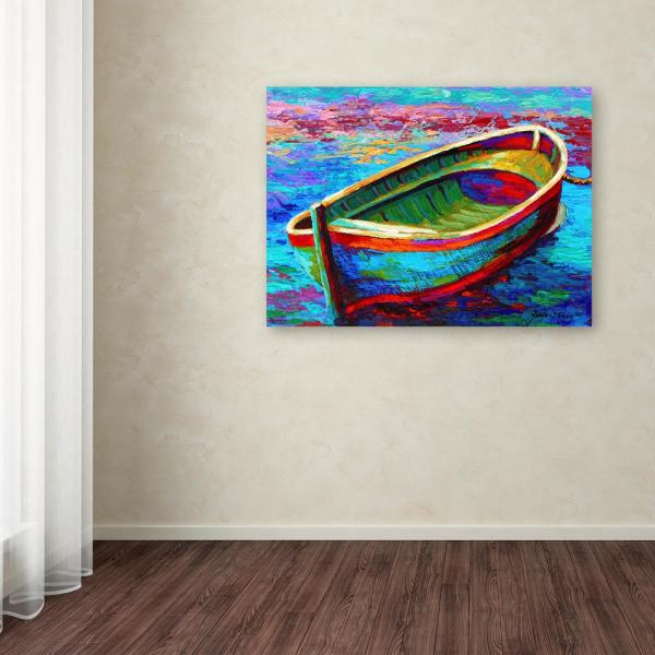 Trademark Fine Art 24 In X 32 In Quot Boat 9 Quot By Marion Rose