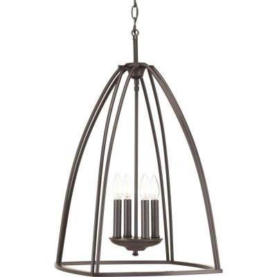 Tally Collection 4-Light Antique Bronze Chandelier