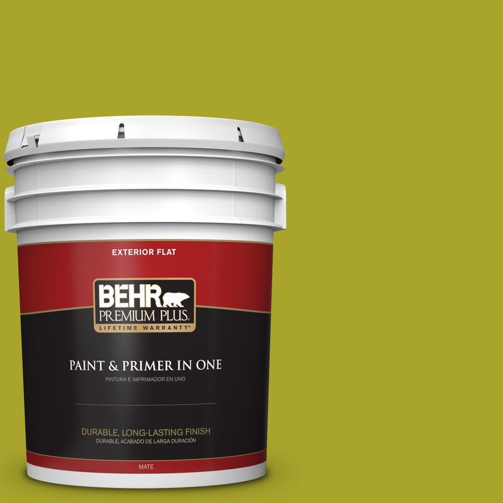 BEHR Premium Plus 5-gal. #P340-7 Venom Flat Exterior Paint