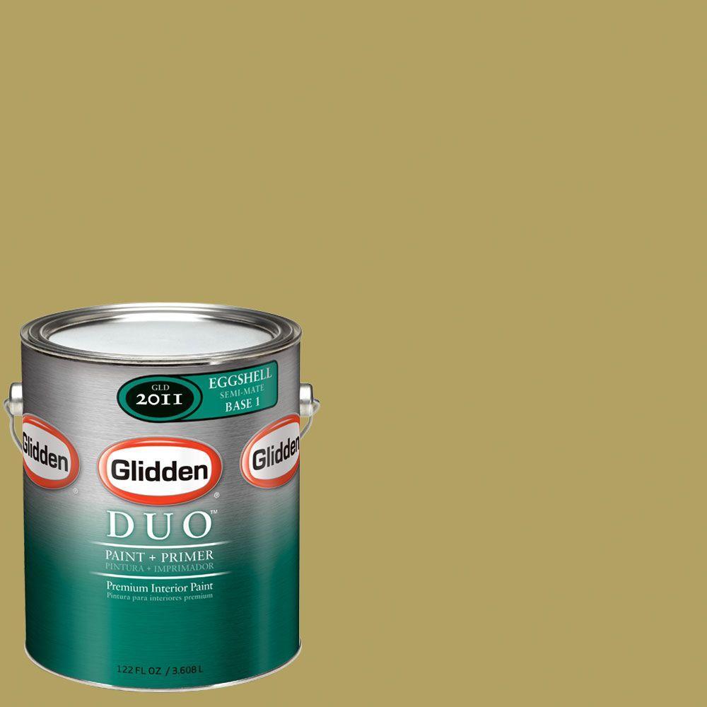 Glidden DUO Martha Stewart Living 1-gal. #MSL102-01F Cornichon Eggshell Interior Paint with Primer-DISCONTINUED