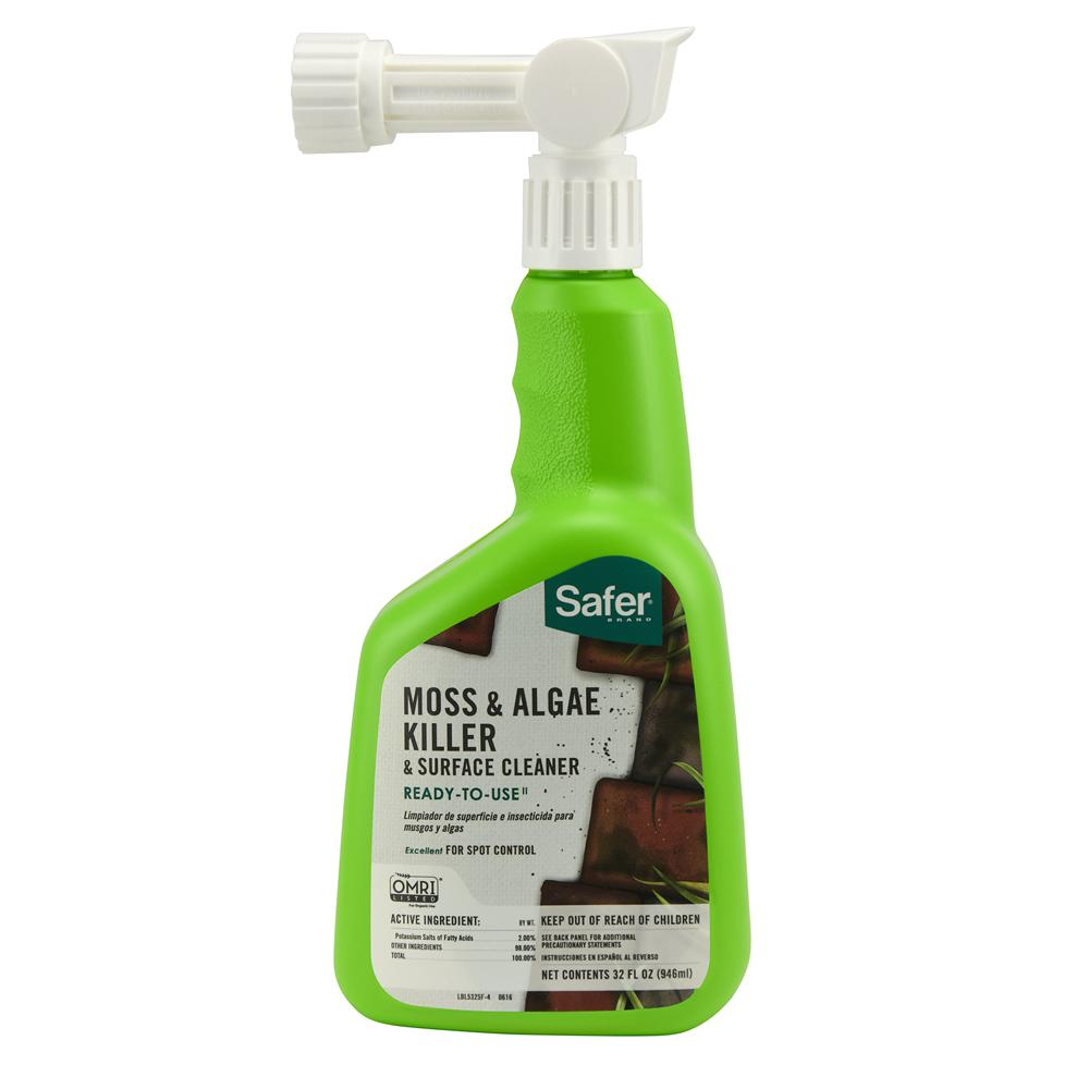 Safer Brand 32 oz. Ready-to-Spray Moss and Algae Killer and Surface Cleaner
