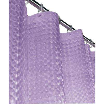 Mirage 72 in. Lilac 3D Shower Curtain