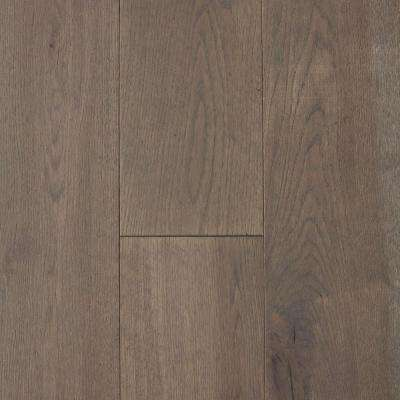 Take Home Sample - Castlebury Scarborough Grey Euro Sawn White Oak Solid Hardwood Flooring - 5 in. x 7 in.