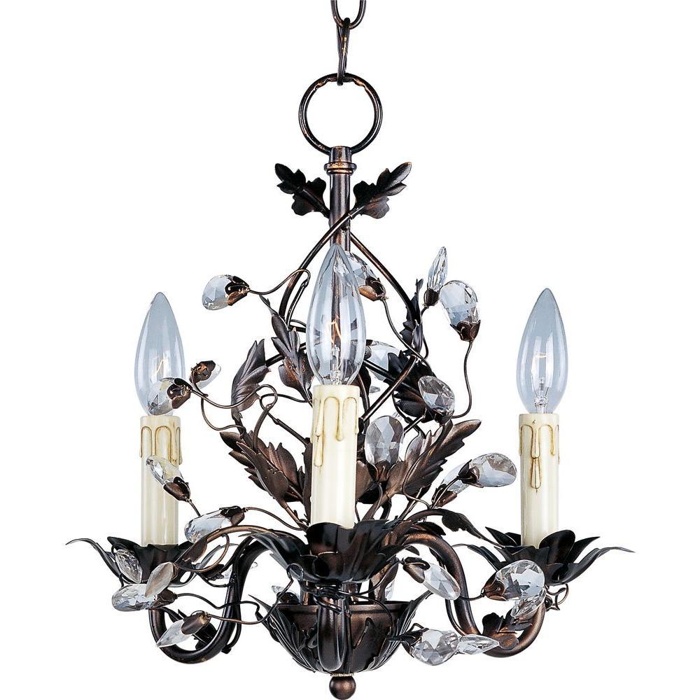 Elegante 3-Light Oil Rubbed Bronze Chandelier