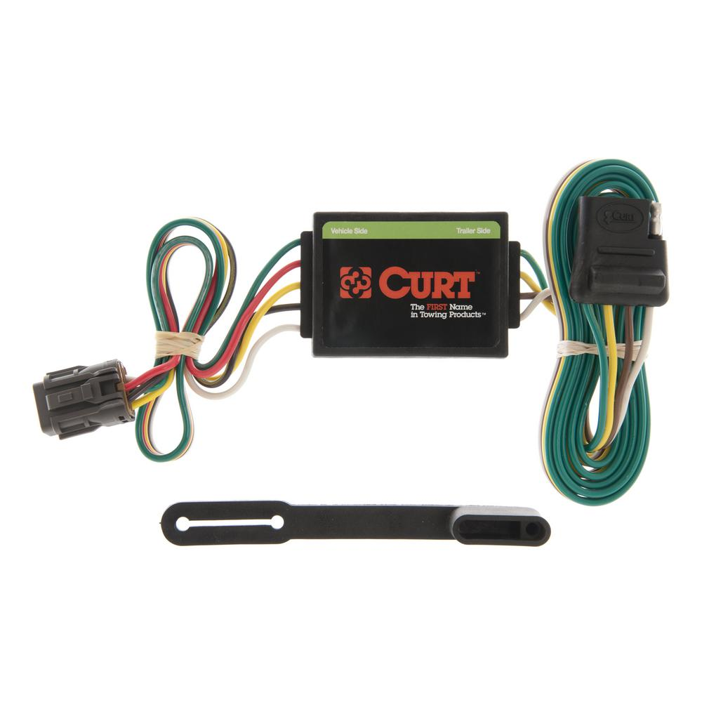 Fabulous Curt Custom Wiring Connector 4 Way Flat Output 55331 The Home Depot Wiring Digital Resources Funapmognl