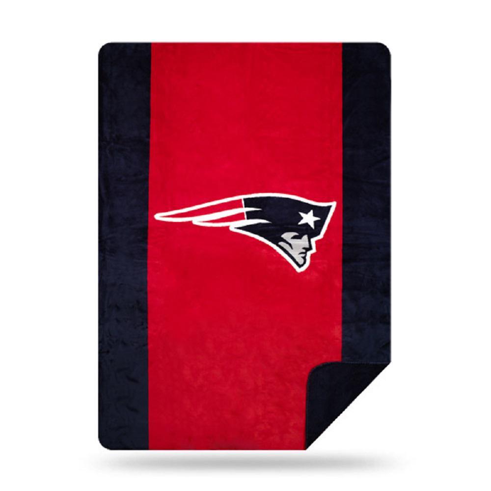 Patriots Multi Color Acrylic Sliver Knit Throw