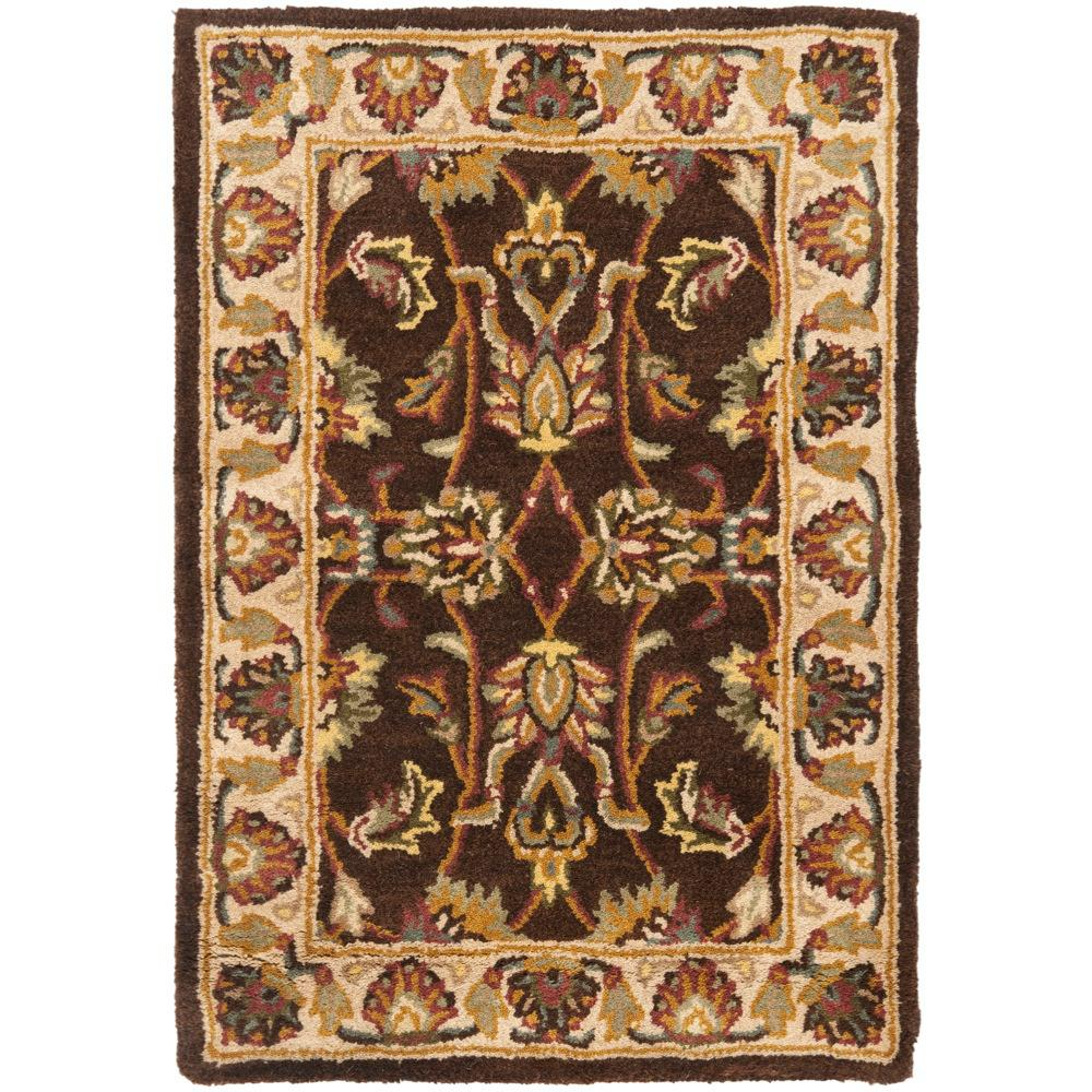 Heritage Brown/Ivory 2 ft. x 3 ft. Area Rug