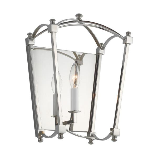 Thayer 9.875 in. Polished Nickel Sconce