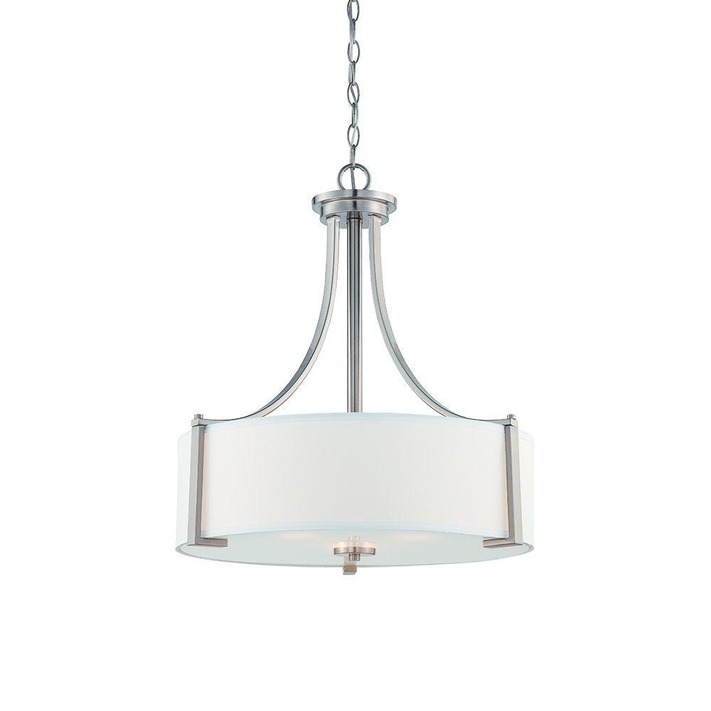 Designers Fountain Axel 3-Light Satin Platina Pendant