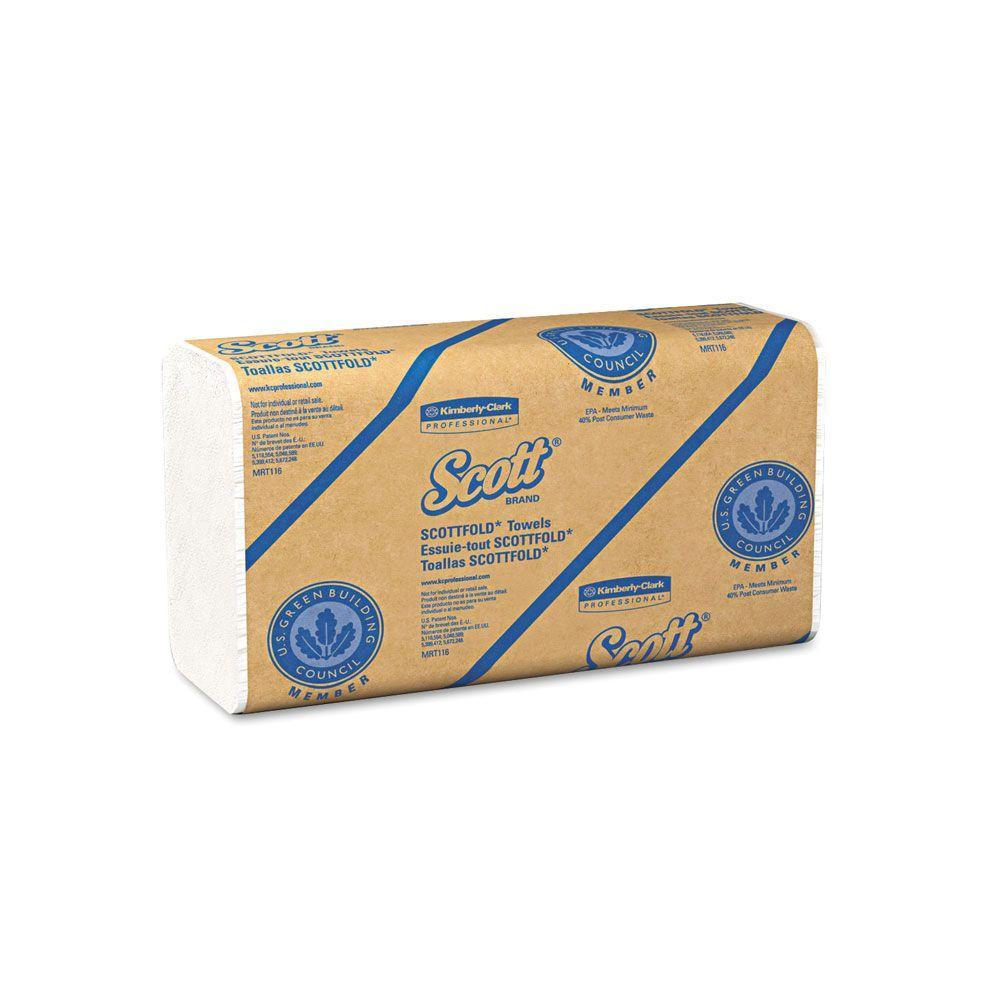 Scott Fold White M Paper Towels 175 Pack Kcc01980 The
