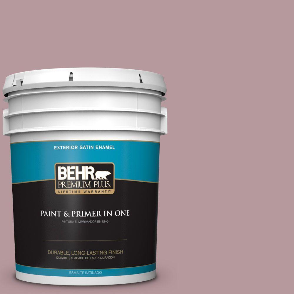 BEHR Premium Plus 5-gal. #PMD-71 Twilight Blush Satin Enamel Exterior Paint