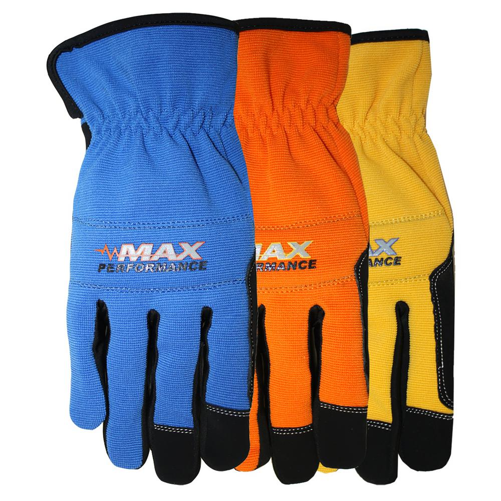 Midwest Quality Gloves Synthetic Padded Palm and Knuckle Glove
