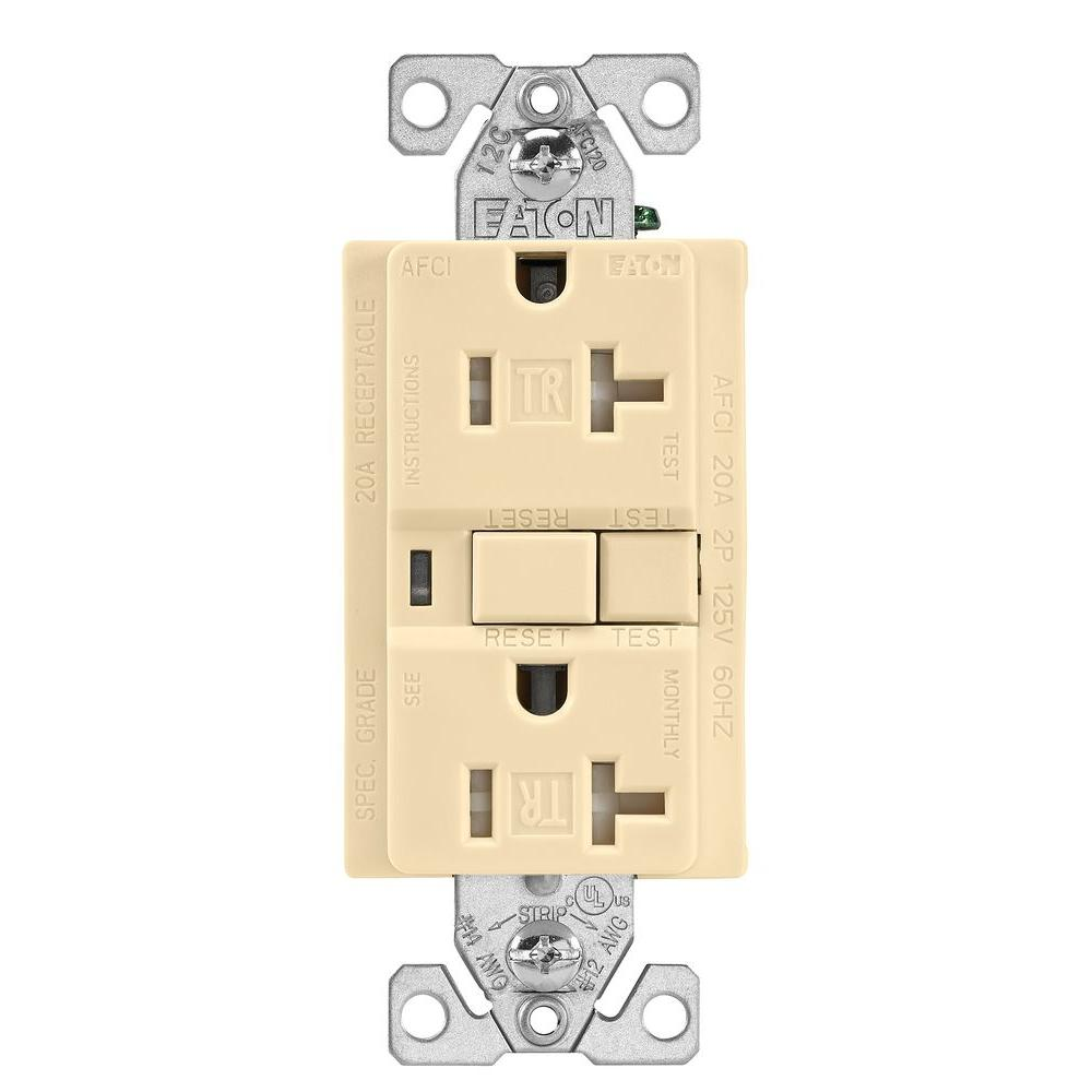 Cooper Wiring Trafci20v Tamper Resistant Afci Receptacle 20 Amp Wall Plates