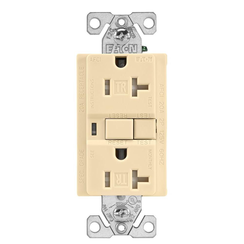 Eaton 20 Amp 125-Volt Tamper Resistant AFCI Duplex